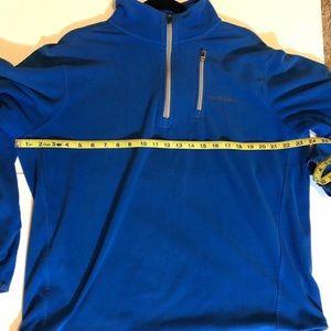 Eddie Bauer Blue Quarter Zip Fleece Size Large
